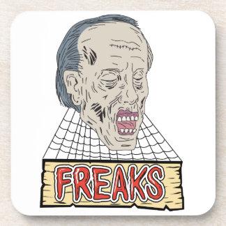 Zombie Freaks Cobwebs Drawing Coaster