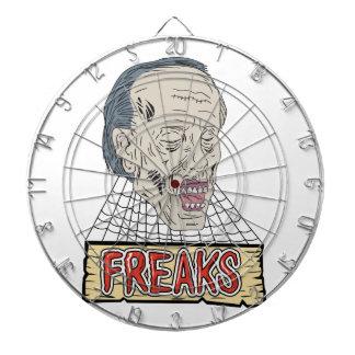 Zombie Freaks Cobwebs Drawing Dartboard