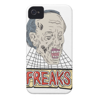 Zombie Freaks Cobwebs Drawing iPhone 4 Cover