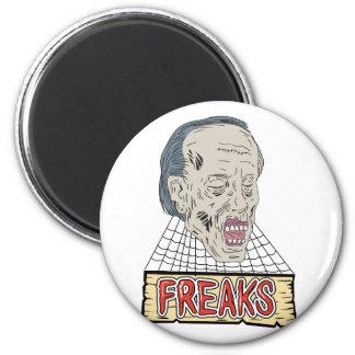 Zombie Freaks Cobwebs Drawing Magnet