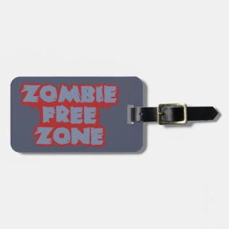 Zombie Free Zone custom luggage tag