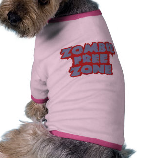 Zombie Free Zone pet clothing - choose color