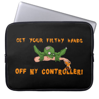 Zombie Get Your Hands Off My Controller Laptop Sleeve