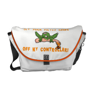Zombie Get Your Hands Off My Controller White Commuter Bag