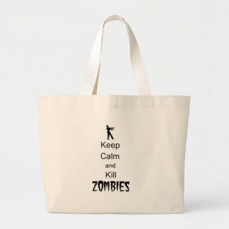 Zombie Gift Keep Calm and Kill Zombies Jumbo Tote Bag