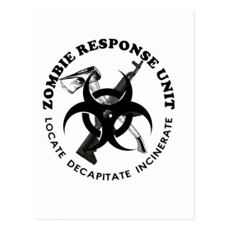 Zombie Gift Response Team Gifts Customize Postcard