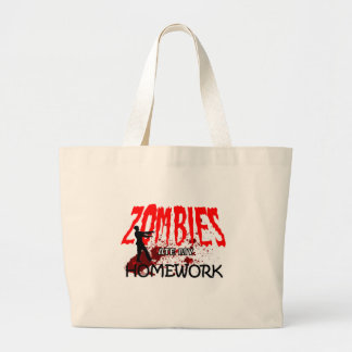 Zombie Gift Zombies Ate My Homework Tote Bags