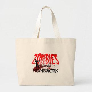 Zombie Gift Zombies Ate My Homework Jumbo Tote Bag
