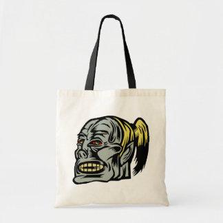 zombie girl tote bag