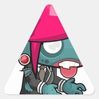 Zombie Girl Cartoon Triangle Sticker