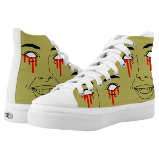 """""""ZOMBIE GIRL"""" High Top Shoes / Sneakers"""