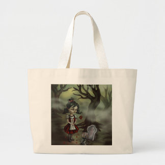 Zombie Graveyard Girl Canvas Bags