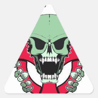 Zombie Green Finger Triangle Sticker