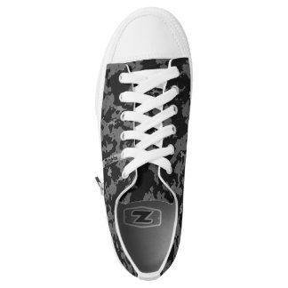 Zombie Grey Camouflage Low Tops Printed Shoes
