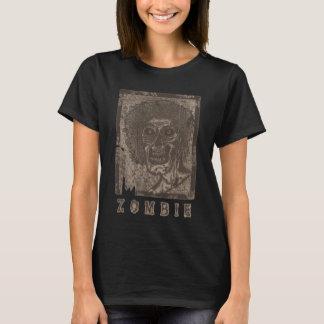 Zombie-Grey Sepia-Tone Distressed T-Shirt
