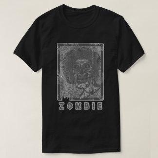 Zombie-Grey White Distressed T-Shirt