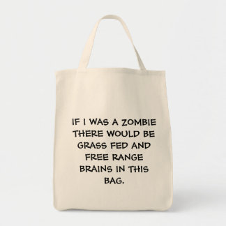 Zombie Groceries Grocery Tote Bag