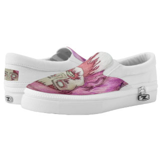 Zombie Grrrl Slip On Shoes