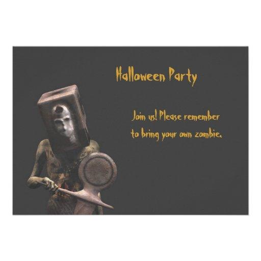 Zombie Guard - Halloween Party Invitation