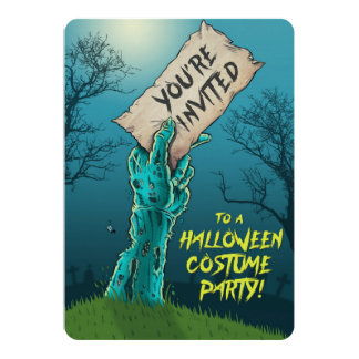Zombie Halloween Costume Party Invitation