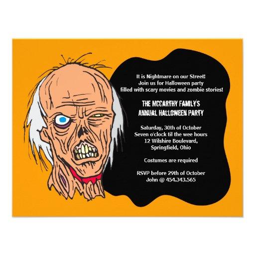 Zombie Halloween Invitation Party