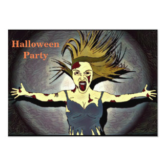 Zombie Halloween Party Invitation