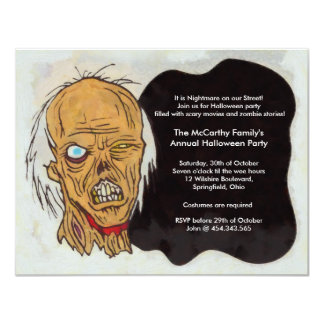 Zombie Halloween Party 4.25x5.5 Paper Invitation Card