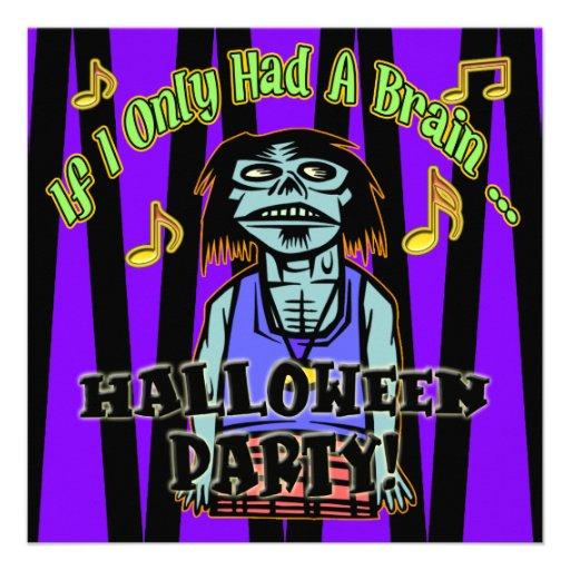 Zombie Halloween Party Invitation