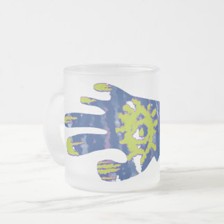 Zombie Hand Frosted Glass Coffee Mug