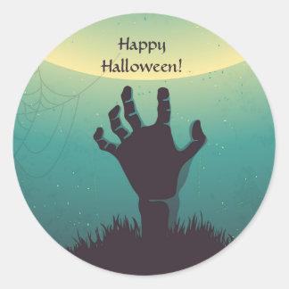Zombie hand Grave Halloween Envelope Sticker
