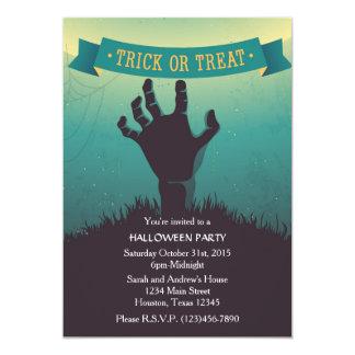 Zombie Hand Grave Halloween Party Invitation