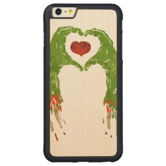 zombie hand making heart carved® maple iPhone 6 plus bumper case