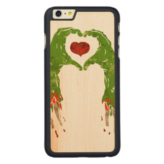zombie hand making heart carved® maple iPhone 6 plus case