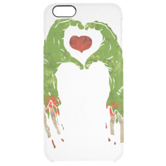 zombie hand making heart clear iPhone 6 plus case