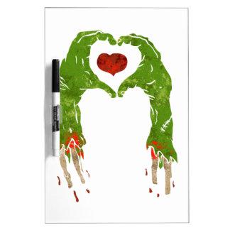zombie hand making heart Dry-Erase board