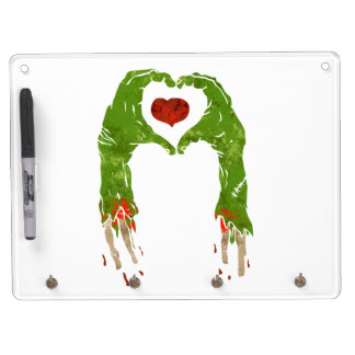 zombie hand making heart dry erase boards