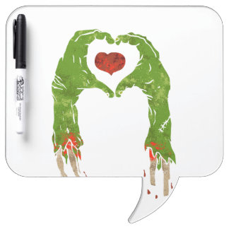 zombie hand making heart dry erase whiteboards