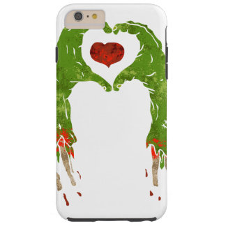 zombie hand making heart tough iPhone 6 plus case