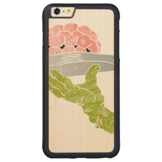 zombie hand serving brain carved® maple iPhone 6 plus bumper case