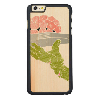 zombie hand serving brain carved® maple iPhone 6 plus case