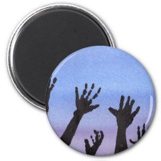 Zombie Hands at Dusk Magnet