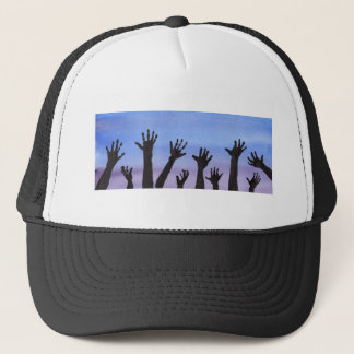 Zombie Hands at Dusk Trucker Hat