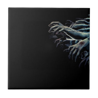 Zombie hands ceramic tile