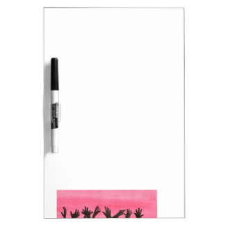 Zombie Hands On Pink Dry Erase White Board