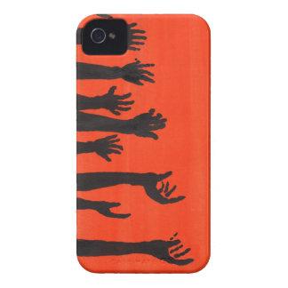 Zombie Hands Orange iPhone 4 Cases