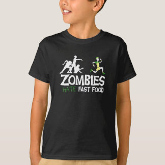 Zombie hate Fast Food T-Shirt