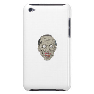 Zombie Head Front Drawing Barely There iPod Cases