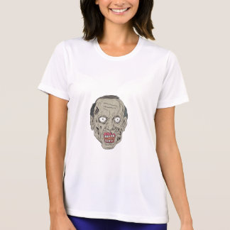 Zombie Head Front Drawing T-Shirt