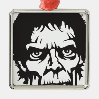 Zombie Head Logo Metal Ornament