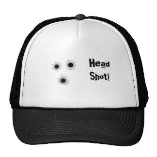 zombie head shot truckers cap